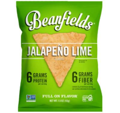 *New* - Beanfields - Bean Chips - Jalapeño Lime - 24x42g