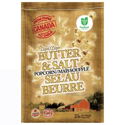 From Farm to Table - Popcorn - Light Butter & Salt - 32x21g