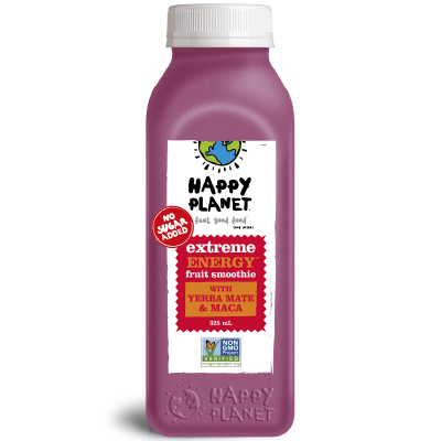 Happy Planet - Fruit Smoothie - Extreme Energy - 6x325mL (3-5 Day Lead Time)