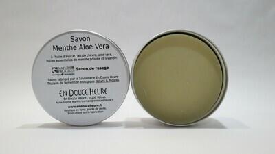 Savon MENTHE ALOÉ VERA – BOITE RONDE - 150g