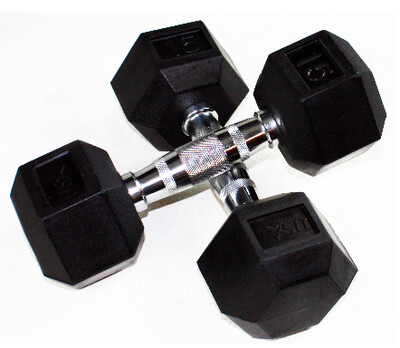 USA Sports HDR Rubber Hex Dumbbells