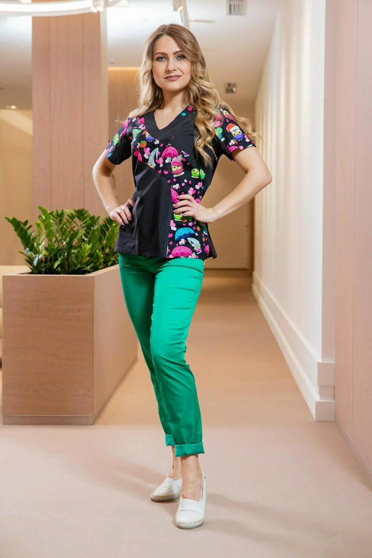 Блуза Николь укороченная