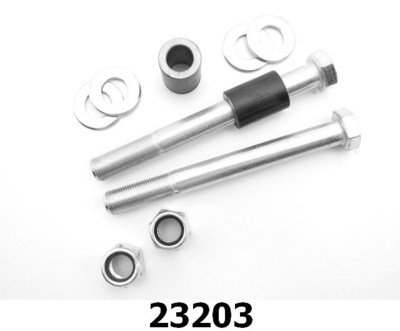 Rear Coilover Bolt Kit, steel spacers