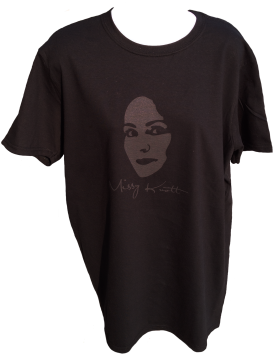 Missy Knott Black T-Shirt with Grey Opaque imprint