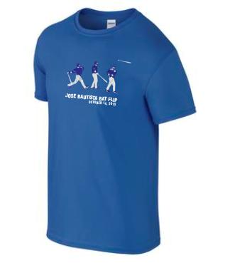 Jose Bautista Bat Flip on 6400 T-shirt