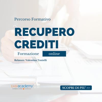 Percorso Formativo - Recupero crediti
