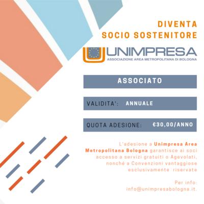 Diventa Socio Sostenitore UNIMPRESA - Area Metropolitana Bologna