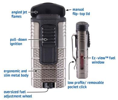 XIKAR Tactical / Triple-jet Flame Lighter