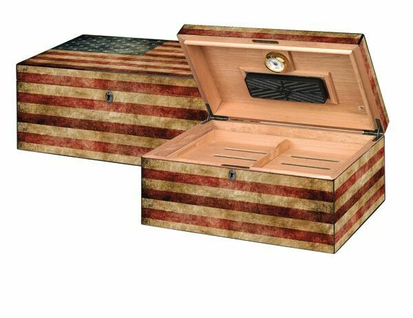 Old Glory WEATHERED AMERICAN FLAG Humidor