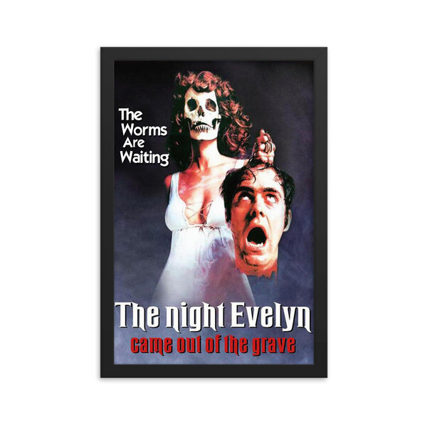 "12"" x 18"" The Night Evelyn Came Out of the Grave Framed Movie Poster"