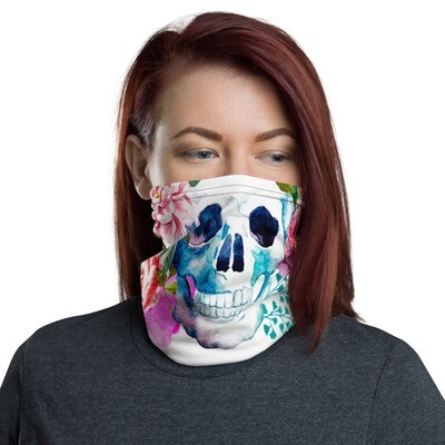 Flower Skull Face Mask