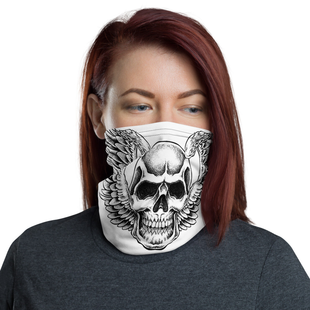 Winged Skull Face Mask