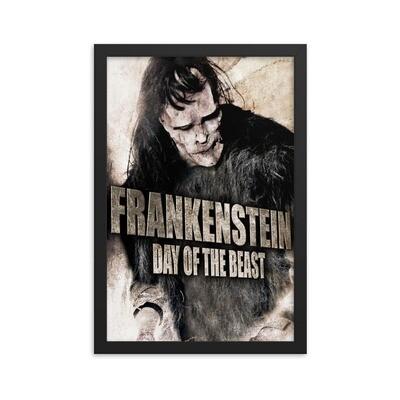 "12"" x 18"" Frankenstein: Day of the Beast Framed Movie Poster"