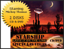 Starship Layin' it on the Line Concert Live in Las Vegas (CD and DVD Combo)