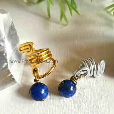 Bijou Locks Lapis Lazuli ARGENTÉ