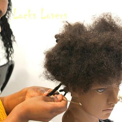 Tête à coiffer cheveux afro 4B afro cheveux naturels - marotte - tête malléable