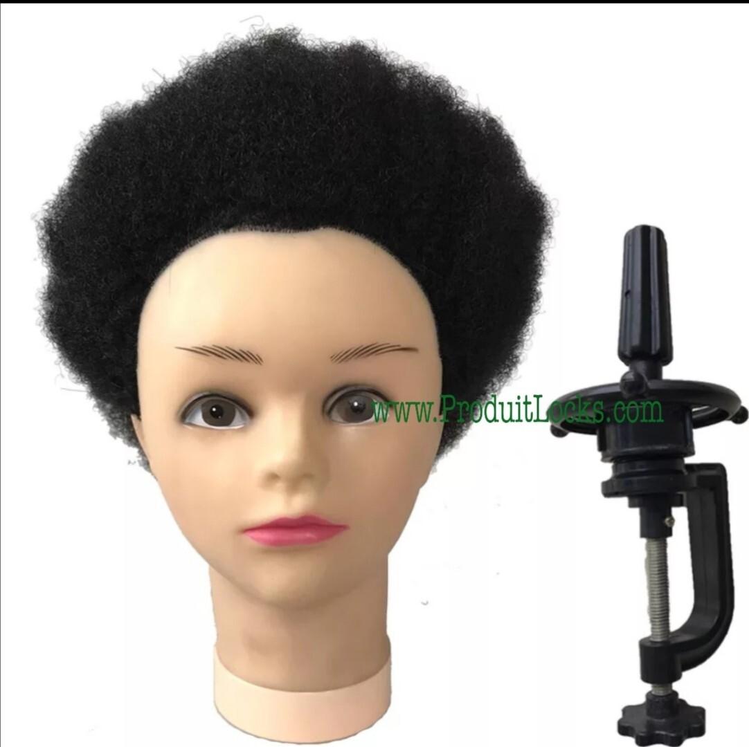 Tête à coiffer cheveux afro 4C kinky afro cheveux naturels - marotte - tête malléable