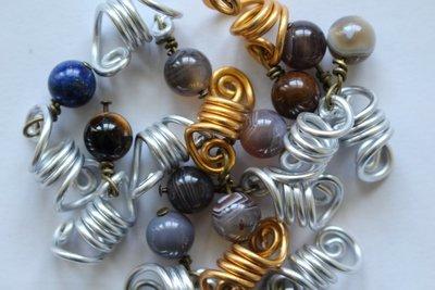 Lot de bijoux locks loc jewel grossiste wholesale - PIERRE CRYSTAL THERAPY HEALING BEADS