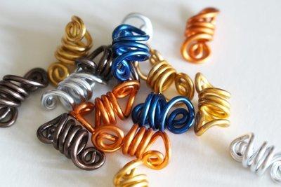Lot de 20 ou 50 Bijoux locks loc jewels COLOR grossiste wholesale