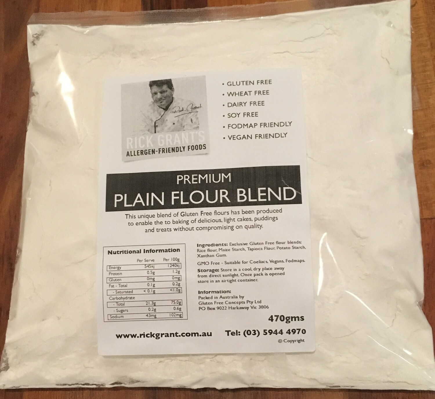 NEW TO THE STORE! Premium Gluten Free Plain Flour can be used for all cooking when plain flour is called for.