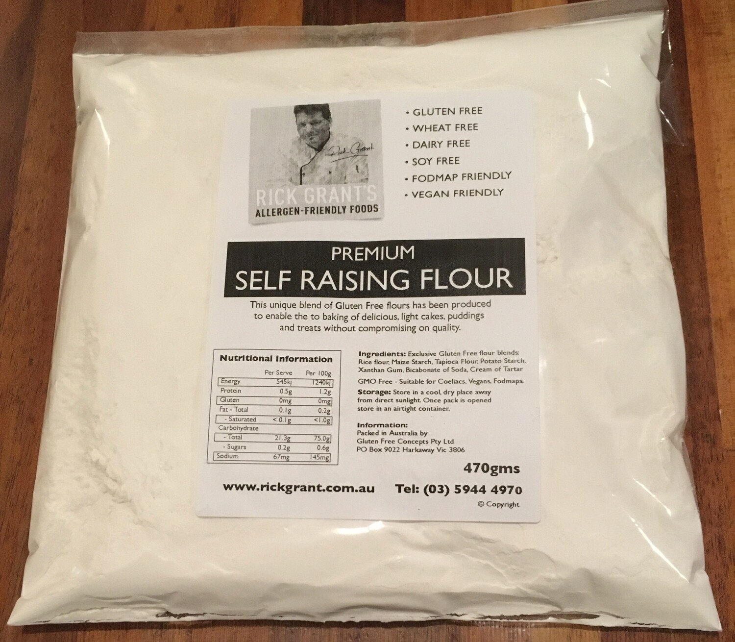 NEW TO THE STORE! Premium Gluten Free Self Raising Flour can be used for cakes, slices & muffins!