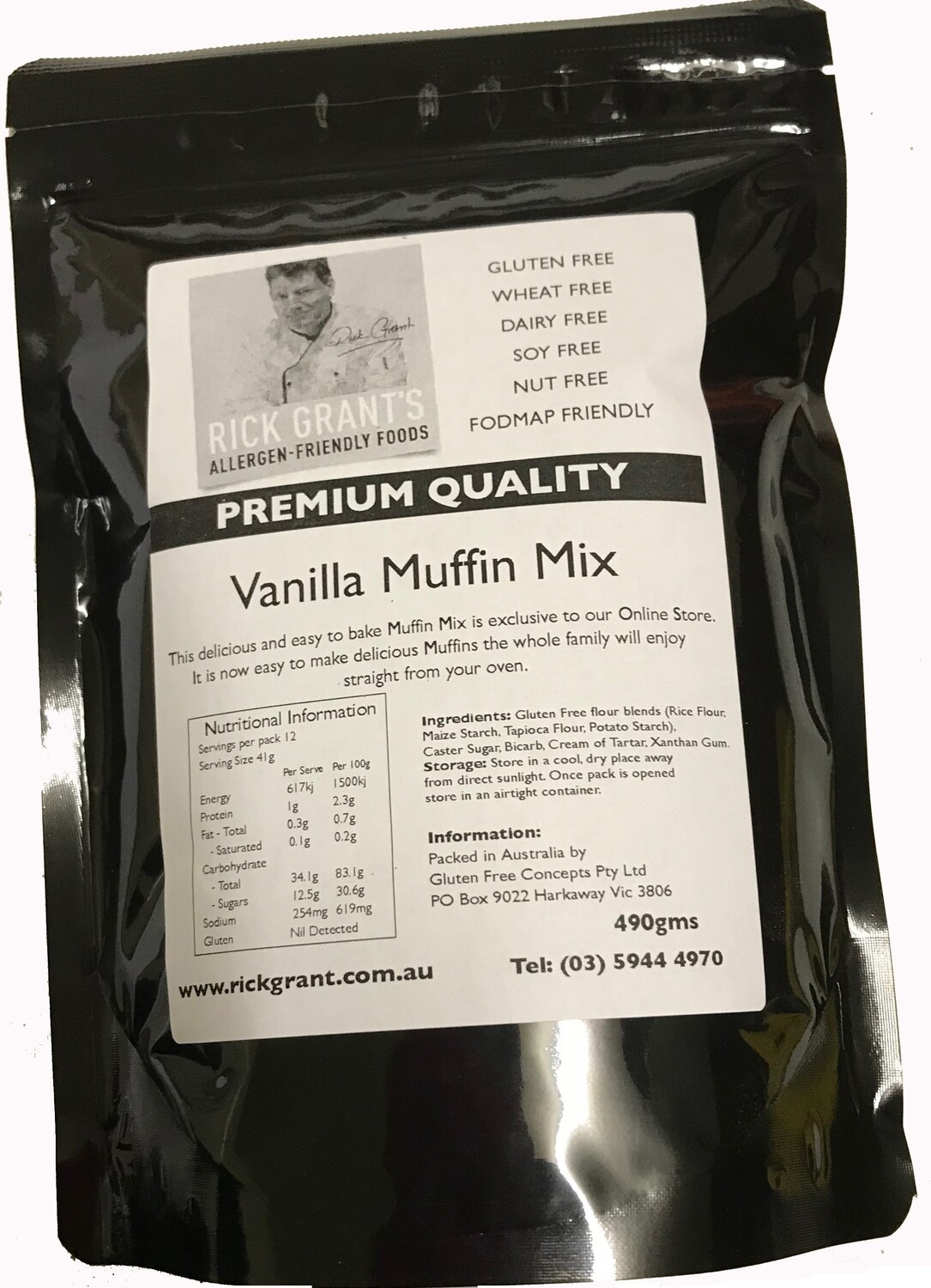 Vanilla Muffin Mix - Easy to use Mix. Makes 12 Muffins, great for school lunches.
