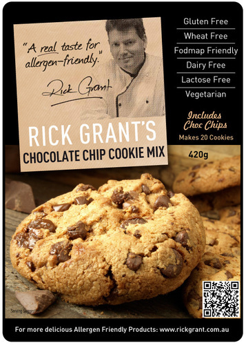Choc Chip Cookie Mix - Gluten Free and Fodmap Friendly. These Cafe Style cookies are truly delicious - try to stop at one!