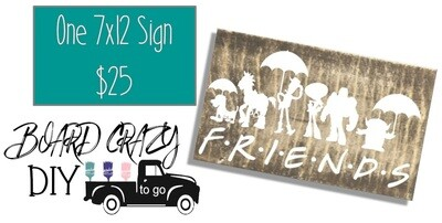 BOARD CRAZY DIY To Go - One 7x12 Sign