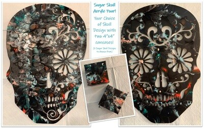 IN-STUDIO EVENT: Wednesday, October 28th - 7:00 pm Sugar Skull Acrylic Pour