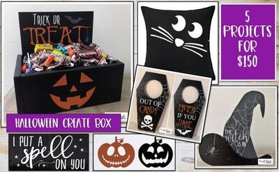 PICKUP/DELIVERY: Saturday, October 17th - 12-2pm Halloween Create Box - All 5 Projects!
