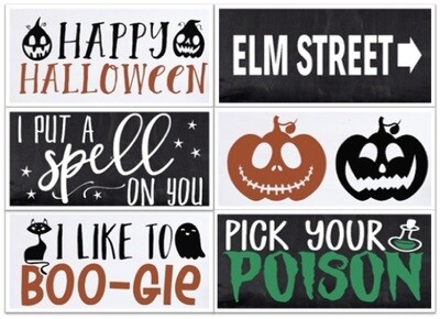 PICKUP/DELIVERY: Saturday, October 17th - 12-2pm Halloween Create Box Project 1 - Two 4X8 Signs!