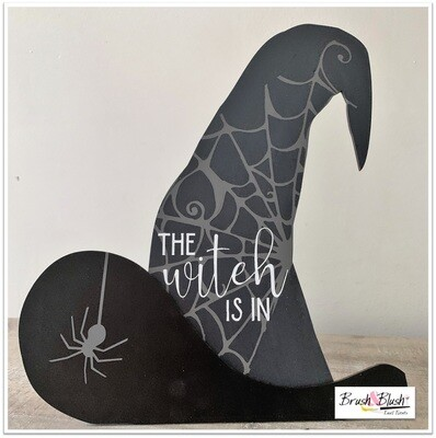 PICKUP/DELIVERY: Saturday, October 17th - 12-2pm Halloween Create Box Project 2 - The Witch Is In Stand-Up Sign!
