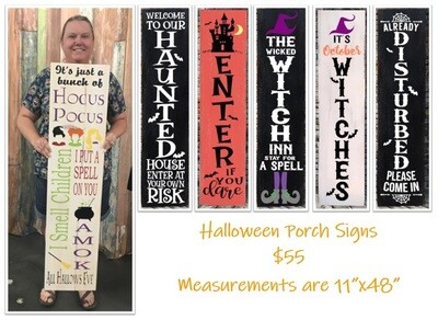 Halloween Workshop - Porch Leaner In-Studio Event: Tuesday, October 20th at 7:00 pm
