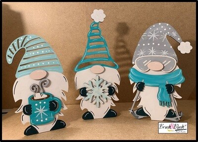 VIRTUAL LIVE-ZTREAM EVENT - Winter Gnomes! PICKUP/DELIVERY DATE: Monday, January 11th - 12-2pm or 4:30-5:30 VIRTUAL LIVE-ZTREAM EVENT: Monday, January 11th at 7:00 pm