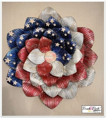 IN-STUDIO EVENT - American Bloom Metal Flower   EVENT DATE & TIME: Saturday, August 21st - 2:00 pm
