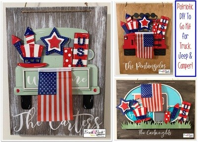 Interchangeable Truck Bed, Jeep Bed or Camper  - Patriotic Kit  Pickup Date: Tuesday, June 22nd - 12-6pm