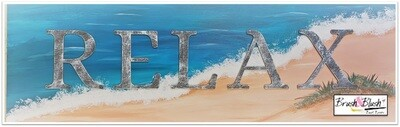 IN-STUDIO EVENT - Beach Relax Painted Wood EVENT DATE & TIME: Friday, August 6th - 6:30 pm