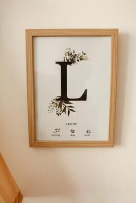 Affiche lettre (10x15cm)