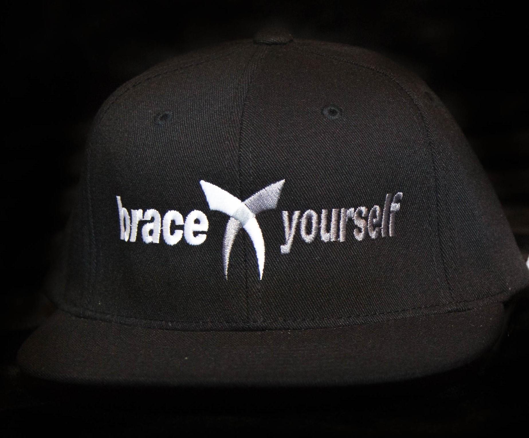 BRACE YOURSELF HAT - BLACK 00016