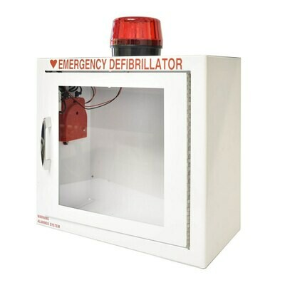 Small AED Standard Wall Cabinet - Strobe & Alarm Included