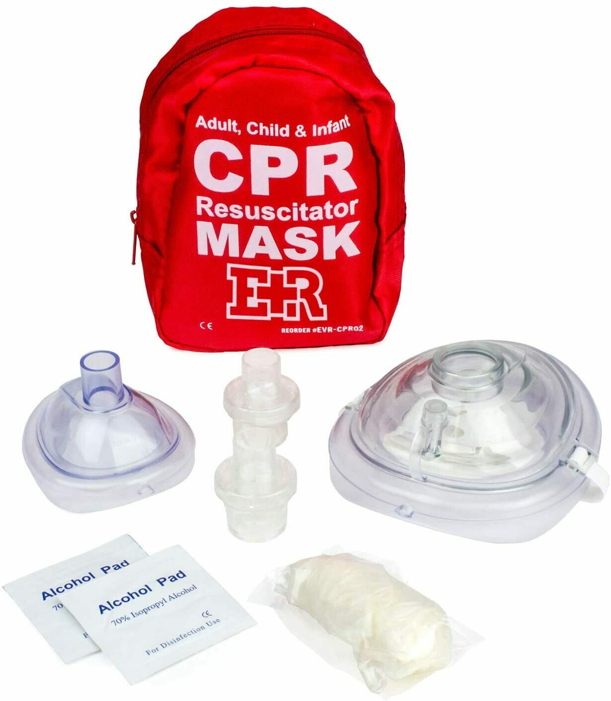 Adult and Infant CPR Mask Combo Kit