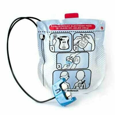 DEFIBTECH LIFELINE VIEW AED PEDIATRIC PADS