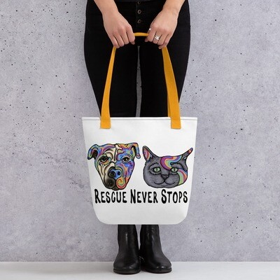 """""""Rescue Never Stops"""" Tote bag"""