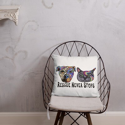 """""""Rescue Never Stops"""" Basic Pillow"""