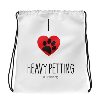 """I Heart Heavy Petting"" Drawstring bag"