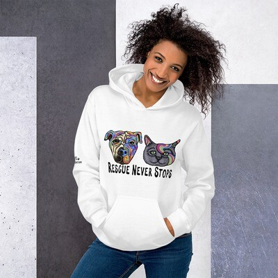 """""""Rescue Never Stops"""" Hoodie"""