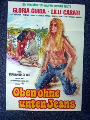 BLUE JEANS 1975 Original German A1 Movie Poster