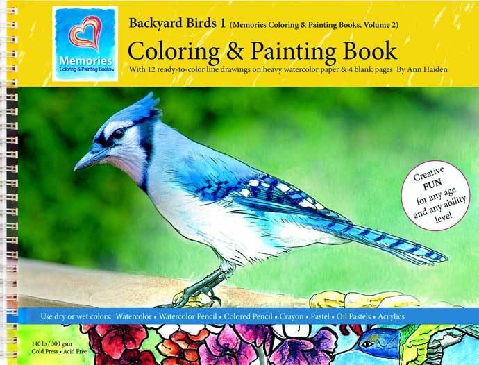 Backyard Birds 1- Memories Coloring & Painting Book, Vol 2