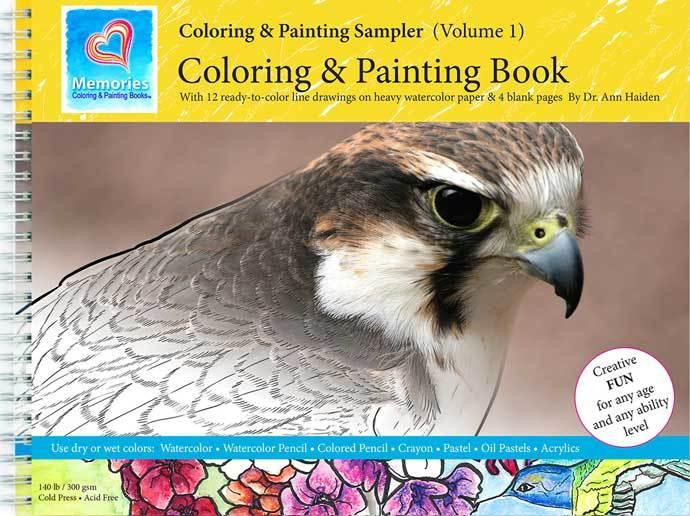 Coloring & Painting Sampler - Memories Coloring & Painting Book, Vol 1