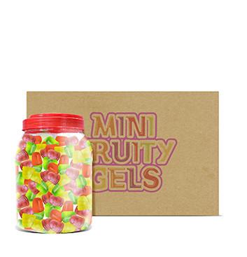 Caja de Mini Gelatinas Mini Fruity Gels® Tarro Redondo Tradicional/Tropical - 6x1500g